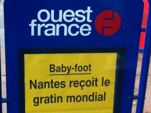 ouest france baby foot